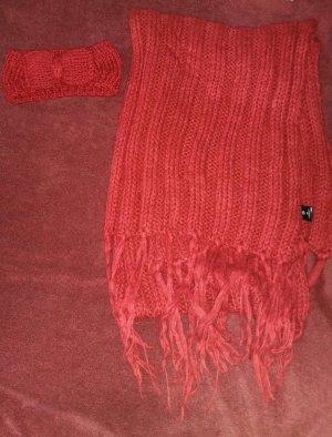 großer warmer Schal & Stirnband
