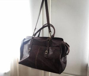 Weekender Bag gold-colored-dark brown