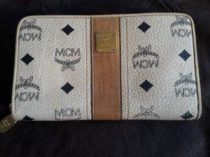 MCM Portemonnee cognac-zandig bruin Leer