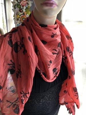 Foulard rouge brique