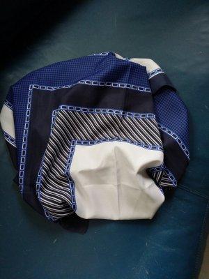 Châle bleu foncé-gris polyester