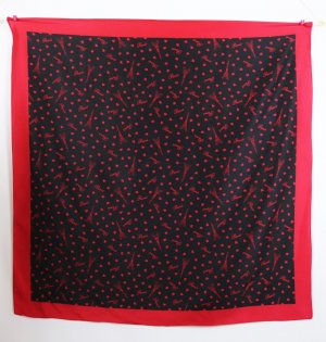 Neckerchief black-dark red