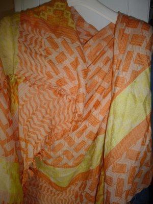 großes Tuch von Zara orange/geld