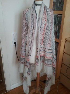 Großes Tuch weiß/rot/blau