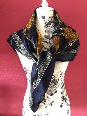 Foulard blu scuro-oro Poliestere