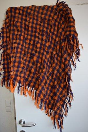 Pieces Shemagh dark orange-dark violet mixture fibre