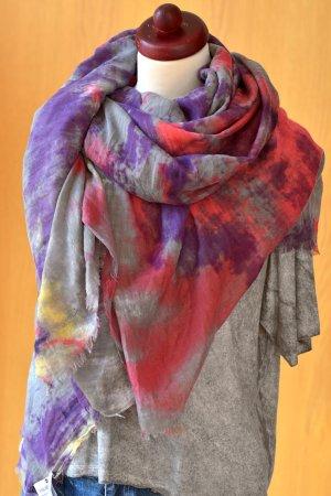 großes weiches Tuch von RaRe Ra-Re Etikett NP 55€ Viskose grau lila usedlook