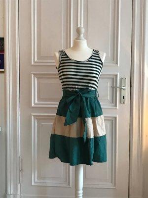 grün/beige gestreiftes Sommerkleid von Kling
