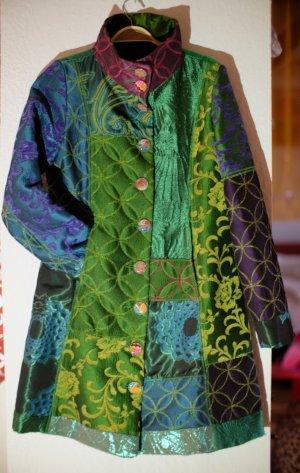 grün blauer Desigual Mantel