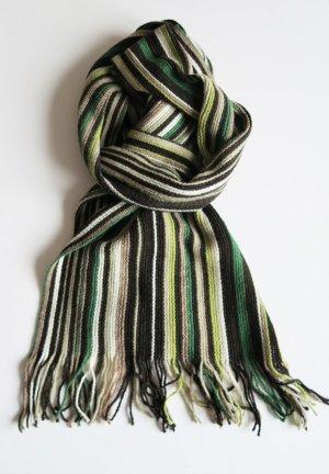 grün gestreifter Schal Strickschal