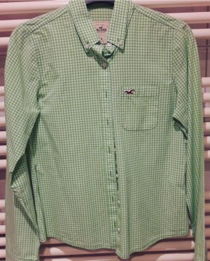 Hollister Blouse-chemisier vert prairie-blanc coton