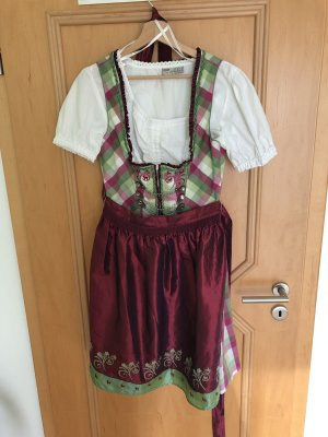 Grün/Lila Dirndl mit Bluse