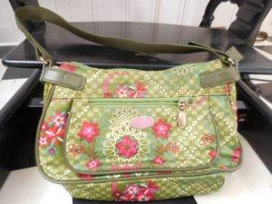 grün pink Oilily Tasche sehr guter Zustand