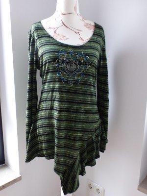 grün schwarz gestreiftes Longshirt / Tunika von Tuzzi