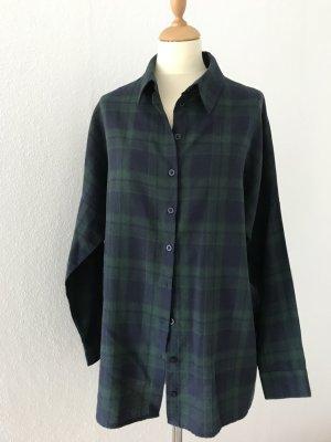 Missguided Flanellen hemd zwart-bos Groen Wol