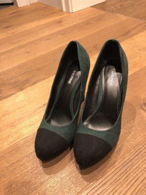 Grün/schwarze Pumps