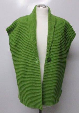 Grün Strickweste Cape Betty Barclay Größe 46 Umhang Strick Cardigan Pullunder Grasgrün Einknopf