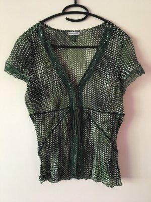 Grün verspielte Bluse