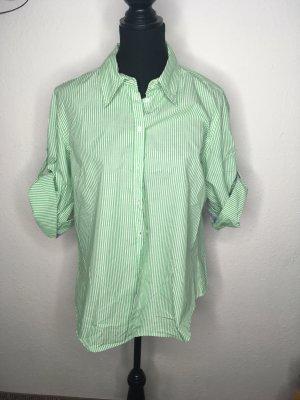Grün weiß gestreifte Bluse