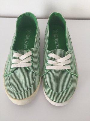 Grün/Weiß gestreifter Halbschuh von Kappa