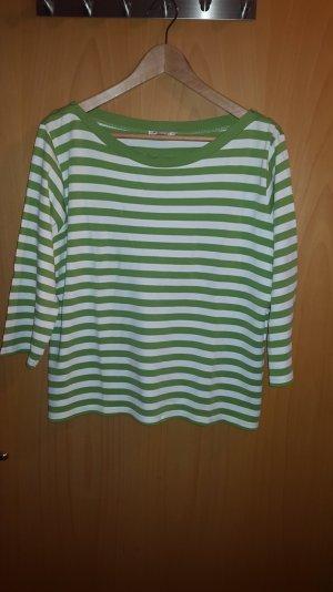 Camisa larga verde neón-blanco