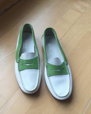 Grün weiße Daniele Lepori Mokassins