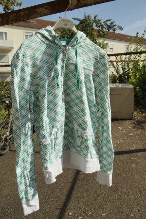 Grün weiße Strickjacke * Hoodie * von Pimkie * Kaputzenpulli *