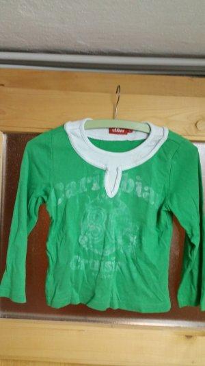 Grün / weißer Pullover