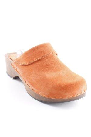 Grünbein Clog Sandalen orange-braun Boho-Look