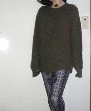Billabong Wool Sweater dark brown-dark green wool