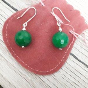 Grüne Achat Ohrringe aus Italien