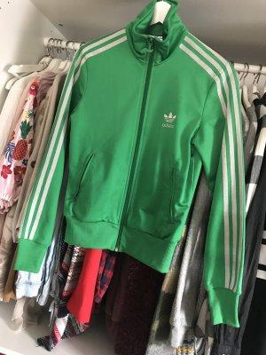 Grüne Adidas Sportjacke