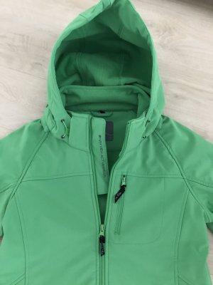 Grüne Allwetterjacke innenseitig aus Fleece NEU