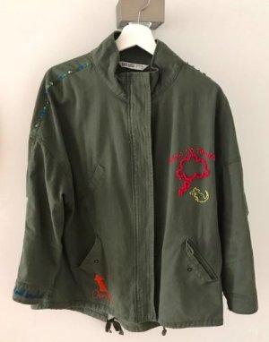 grüne Armyjacke von Zara