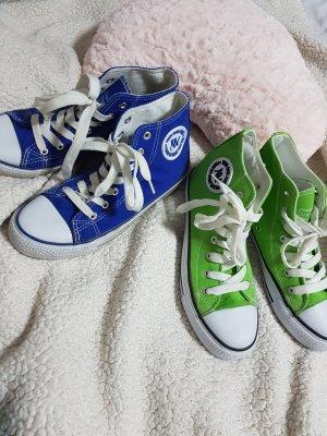 grüne / blaue sneakers