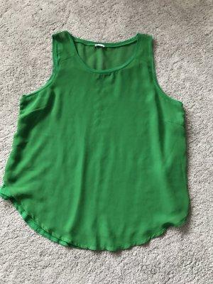 grüne Bluse mit rundem Bund