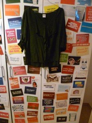 Grüne Bluse von Vero Moda, Volant, Rüschen, Blogger, Basic, Waldgrün