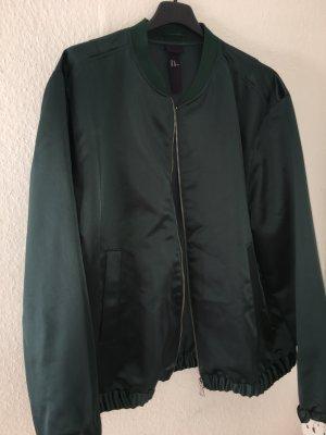 Grüne Bomberjacke Satin H&M