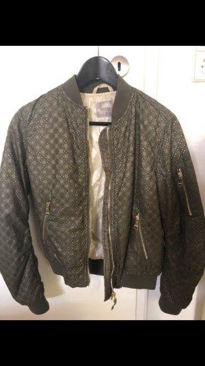 Guess Bomber Jacket khaki-green grey polyamide