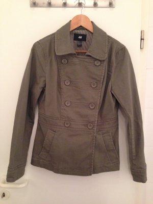 Grüne Caban-Jacke von H&M in Größe 40