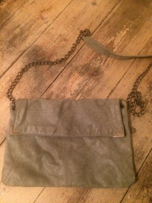 Grüne Crossbody- Tasche, echtes Leder
