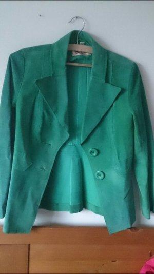 Grüne echt Leder Jacke
