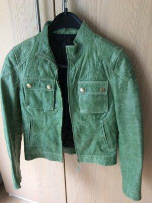 Chaqueta de cuero verde Cuero