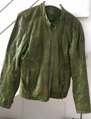 Grüne Echtlederjacke von der Marke Gipsy