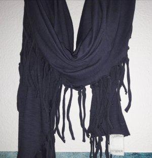 Grüne Erde Pañoleta azul oscuro-taupe Algodón