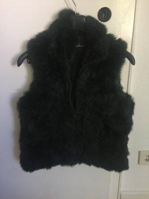 Smanicato di pelliccia verde scuro-verde