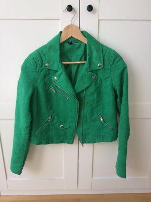 Grüne H&M kurze Bikerjacke
