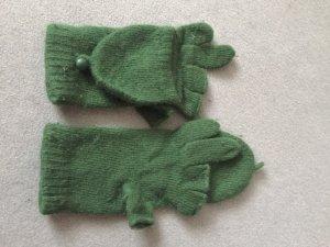 Mittens grass green mixture fibre