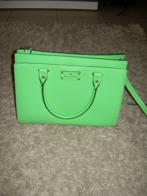 Kate Spade Carry Bag green leather