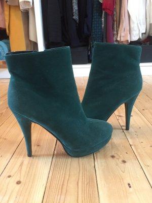 Grüne High Heels; Stiefeletten